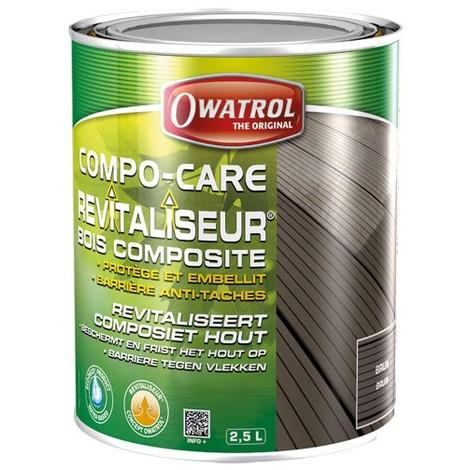 OWATROL - Revitaliseur bois composite Compo-care - brun - 2.5 L