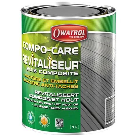 OWATROL - Revitaliseur bois composite Compo-care - gris - 1 L