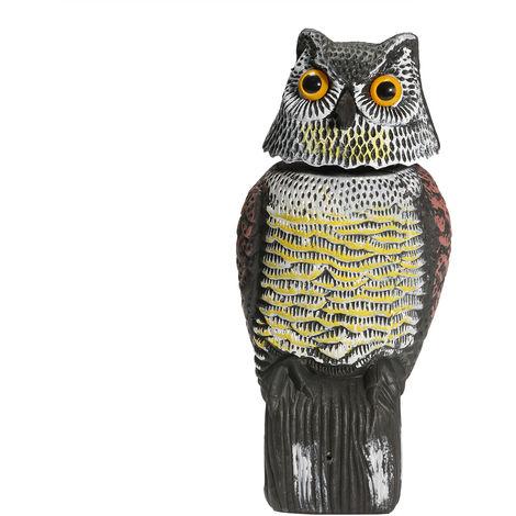 Owl Calls Bright Eyes Shaking Head Hunting Lure Deterrent Repeller Garden Bait False Birds Scary Decor