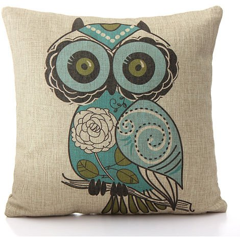 Owl Cushion Cover Sofa house bed pillow case Sasicare