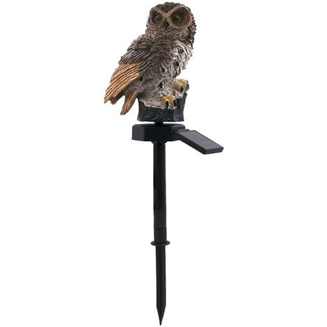 Owl Solar Light With Solar Panel IP65 Water Resistance Brown