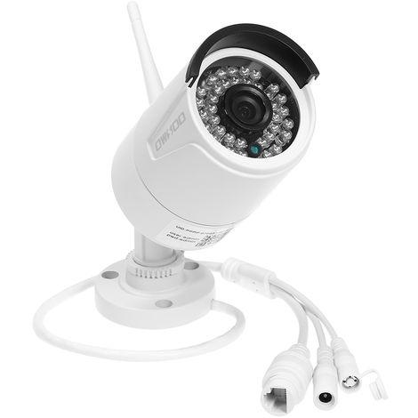 OWSOO, camara de seguridad WIFI, 1080P, tarjeta TF maxima de 128 GB, blanco