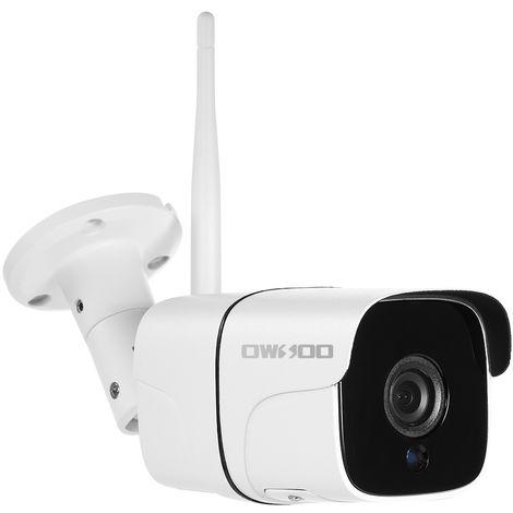 OWSOO, camara de seguridad WIFI CA-831C-R, 1080P, compatible con tarjeta TF de 128GB,blanco