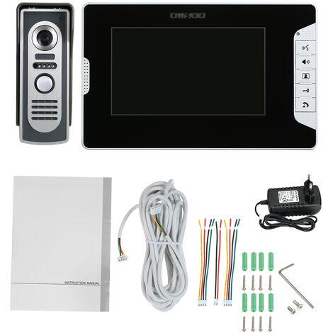 OWSOO Kit de intercomunicador con timbre de puerta con videoportero de 7 pulgadas