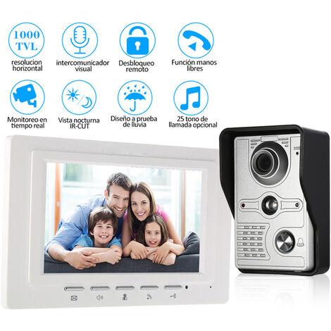OWSOO, Monitor de interior con timbre de video con cable de 7 pulgadas, con CORTE IR