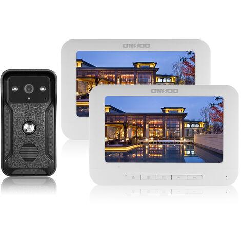 OWSOO Monitor de interior con videoportero con cable 2 de 7 pulgadas