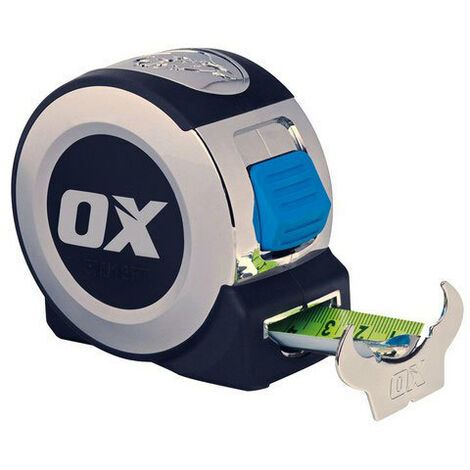 OX P020905 Pro 5 Metre 16Ft Tape Measure Chrome