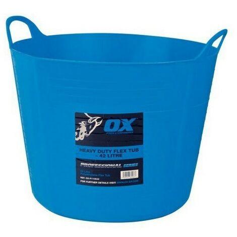 OX P110673 Pro Heavy Duty 73 Litre Flexi Tub Blue