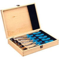OX P370505 Pro Wood Chisel With Strike Cap Set of 5 in Wooden Box