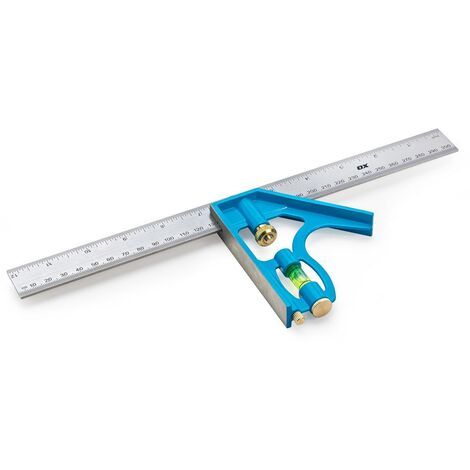 OX Pro Stainless Steel Combination Square - 300mm