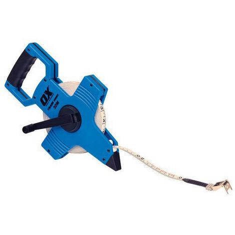 OX T023503 Trade Open Frame Long Measuring Surveyers Tape 30 Metre 100Ft
