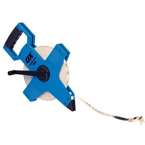 OX T023505 Trade Open Frame Long Measuring Surveyers Tape 50 Metre 165Ft