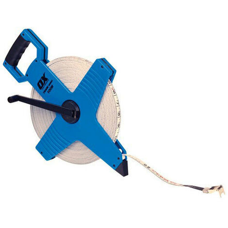 OX T023510 Trade Open Frame Long Measuring Surveyers Tape 100 Metre 330Ft