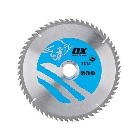 OX TCT Aluminium / Plastic / Laminate Cutting Circular Saw Blade (Various Sizes)