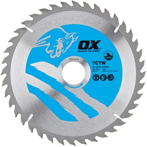"main image of ""OX TCT Wood Cutting Circular Saw Blade - 160mm x 20mm x 40T"""