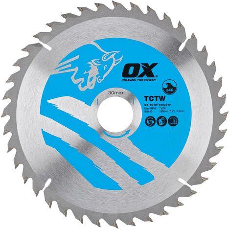 "main image of ""OX TCT Wood Cutting Circular Saw Blade - 216mm x 30mm x 28T"""