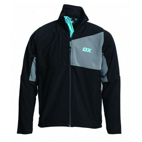 OX W550102 Softshell Jacket Black and Grey S