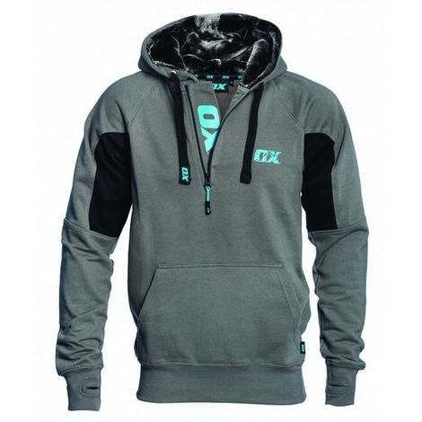 OX W550402 Hoodie Black and Grey S