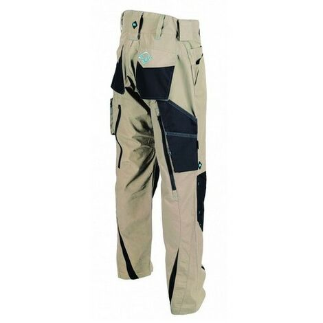 """OX W550934 Ripstop Work Trousers Beige 34"""" Regular"""