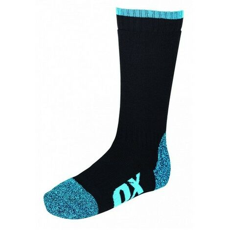 OX W551001 Tough Builders Work Socks Black and Blue Size 6-12