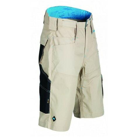 "OX W551234 Ripstop Work Shorts Beige 34"""