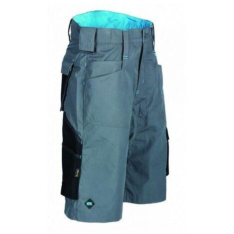 "OX W551334 Ripstop Work Shorts Graphite 34"""