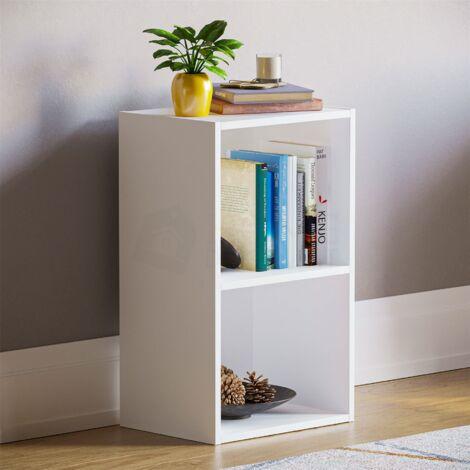 Oxford 2 Tier Cube Bookcase, White