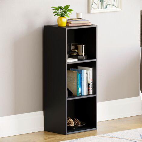 Oxford 3 Tier Cube Bookcase, Black