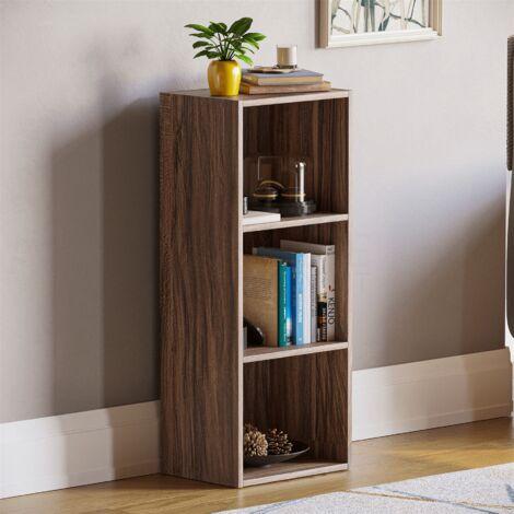 Oxford 3 Tier Cube Bookcase, Walnut