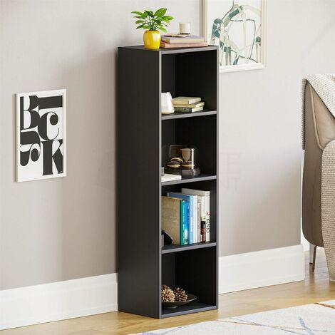 Oxford 4 Tier Cube Bookcase, Black