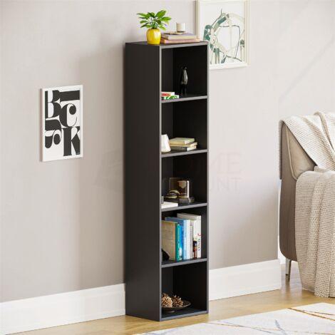 Oxford 5 Tier Cube Bookcase, Black