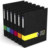 OXFORD Classeurs étudiant - 26x32 cm - Dos 40 mm - 6 couleurs assorties
