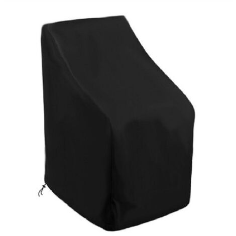 Oxford cloth stacking chair waterproof and dustproof cover, black outside and silver inside 64*64*120/70cm