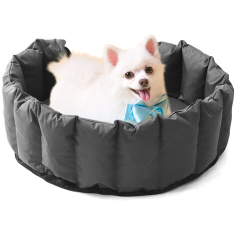 Oxford Dog Bed Waterproof Kennel Cushion Cat Pet Puppy Bed Baskets Grey 97x74x25cm
