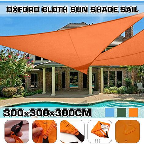 Oxford Fabric Outdoor Waterproof Tent Rain Cover Sunshade Shelter Camping Beach Picnic Sunshade Sail (Blue, 300x300x300cm)