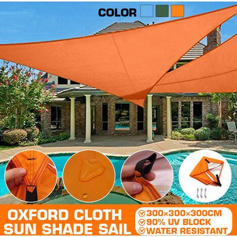 Oxford Fabric Outdoor Waterproof Tent Rain Cover Sunshade Shelter Camping Beach Picnic Sunshade Sail (Green, 300x300x300cm)