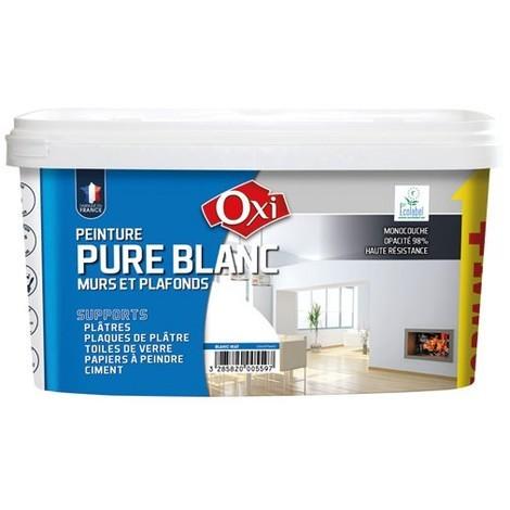OXI - Peinture monocouche mat - 2.5 L - blanc