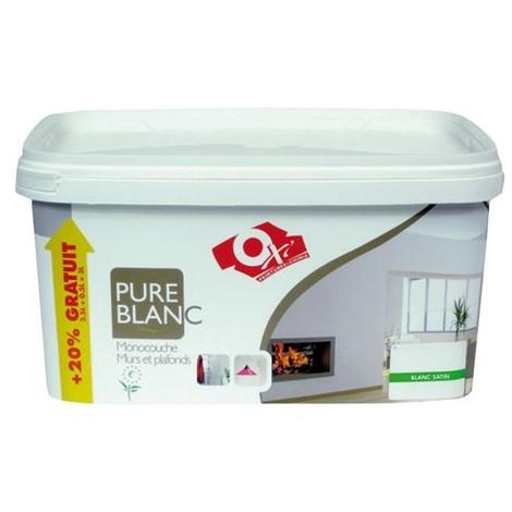 OXI - Peinture monocouche satin - 2.5 L - blanc