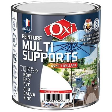 OXI - Peinture multi supports TOP3+ brillant 0.5 L - noir