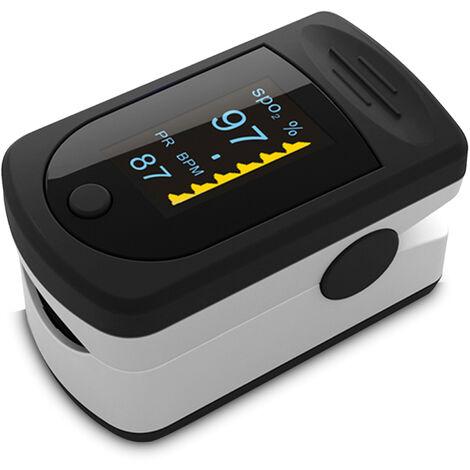 Oximetro de pulso digital de dedo, sensor de oxigeno en sangre con pantalla OLED,Colores al azar