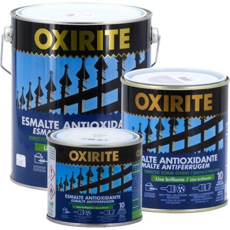 Oxirite liso brillante 10 años blanco/negro