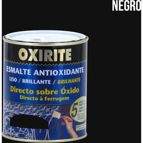 Oxirite lisse brillant blanc-noir