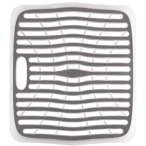 OXO - Fond d'évier rectangle - blanc, gris