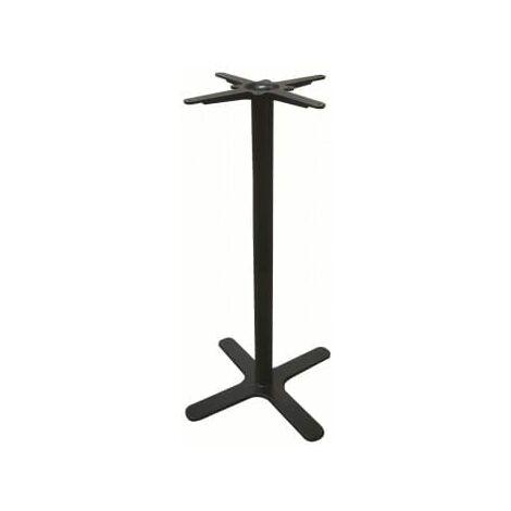 Oxon 4 Leg Black Tall Kitchen Bar Poseur Table Base