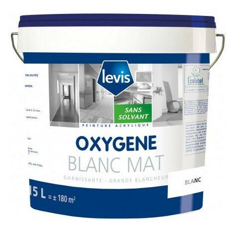 OXYGENE MAT BLANC 15L Peinture mate 0% de solvant ajouté en phase aqueuse - Levis