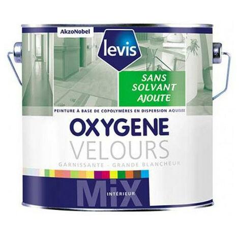 OXYGENE VELOURS BLANC 15L Peinture 0% de solvant ajouté d'aspect velours pour murs intérieurs - Levis
