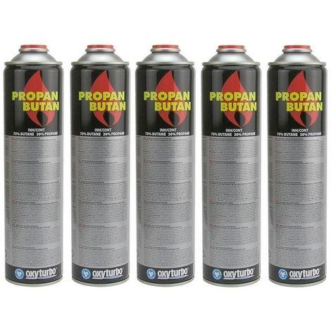 Oxyturbo Pack promo 5 x cartouche de gaz 600 ml pour désherbeur thermique