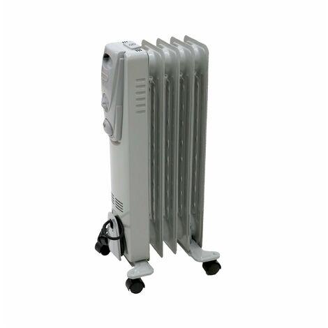 Oypla 1000W 5 Fin Portable Oil Filled Radiator Electric Heater