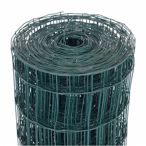 """main image of """"Oypla 1.2m x 25m Green PVC Coated Galvanised Steel Wire Mesh Fencing Garden Euro Stock Fencing"""""""