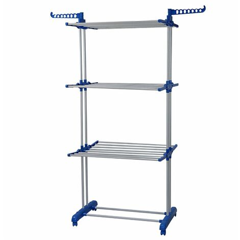 Oypla 3 Tier Indoor Folding Clothes Airer Laundry Hanger Dryer Rack